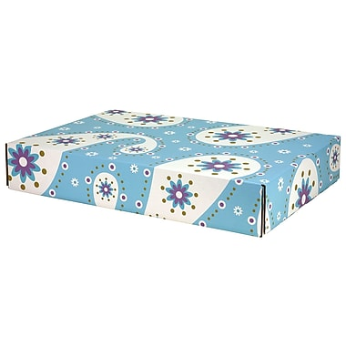 GPP Gift Shipping Box, Lisa Line, Paisley Pale Blue
