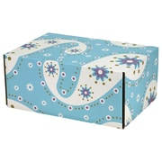 06.2(L)X 3.7(W)X9.5(H) GPP Gift Shipping Box, Lisa Line, Paisley Pale Blue, 48/Pack