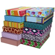 """12.2""""(L)x 3""""(W)x17.8""""(H) GPP Gift Shipping Box, Classic Line, Assorted Styles, 48/Pack"""
