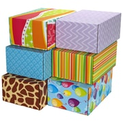 """06.2""""(L)X 3.7""""(W)X9.5""""(H) GPP Gift Shipping Box, Classic Line, Assorted Styles, 6/Pack"""