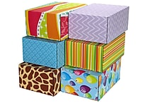 06.2'(L)X 3.7'(W)X9.5'(H) GPP Gift Shipping Box, Classic Line, Assorted Styles, 6/Pack