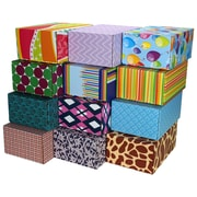 "06.2""(L)X 3.7""(W)X9.5""(H) GPP Gift Shipping Box, Classic Line, Assorted Styles, 48/Pack"