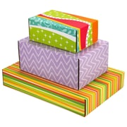 Assorted Size GPP Gift Shipping Box, Classic Line, Assorted Styles, 6/Pack