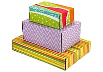 Assorted Size GPP Gift Shipping Box, Classic Line, Assorted Styles, 48/Pack