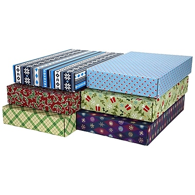 GPP Gift Shipping Box, Holiday Line, Assorted Styles