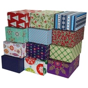 "06.2""(L)X 3.7""(W)X9.5""(H) GPP Gift Shipping Box, Holiday Line, Assorted Styles, 24/Pack"