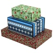 Assorted Size GPP Gift Shipping Box, Holiday Line, Assorted Styles, 48/Pack