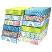 12.2(L)x 3(W)x17.8(H) GPP Gift Shipping Box, Lisa Line, Assorted Styles, 12/Pack