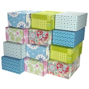 "08.8""(L)X 5.5""(W)X12.2""(H) GPP Gift Shipping Box, Lisa Line, Assorted Styles, 12/Pack"