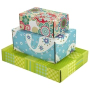 Assorted Size GPP Gift Shipping Box, Lisa Line, Assorted Styles, 12/Pack