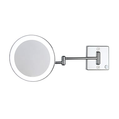 WS Bath Collections Discololed LED Lighted 3x Magnifying Makeup Mirror