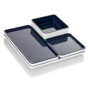 Pantone 4 Piece Modular Food Serving Tray Set; Indian Teal