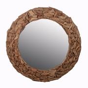 Privilege Round Wooden Mirror
