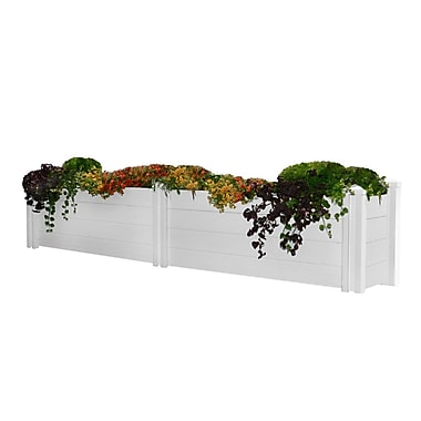 New England Arbors Rectangular Planter Box; 25.2'' H x 134'' W x 15'' D