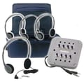 Buhl MP3 Listening Center - 4 Personal Headphone, Jackbox with Volume, Carry Case