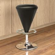 CorLiving Adjustable Height Swivel Bar Stool; Black