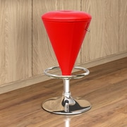 CorLiving Adjustable Height Swivel Bar Stool; Red