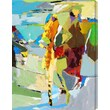 Gallery Direct ''Abstract Figure III'' by M. Drake Painting Print Canvas; 16'' H x 12'' W