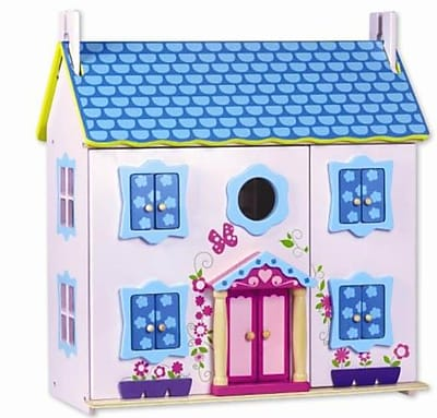 Classic Toy Wood Doll House with Furniture