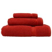 Linum Home Textiles Herringbone Weave 100pct Turkish Cotton 3 Piece Towel Set; Terracotta