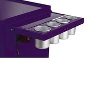 Viper Tool Storage Folding Salon Cart Power Shelf; Purple
