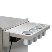 Viper Tool Storage Folding Salon Cart Power Shelf; Stainless Steel