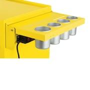 Viper Tool Storage Folding Salon Cart Power Shelf; Yellow