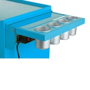 Viper Tool Storage Folding Salon Cart Power Shelf; Teal