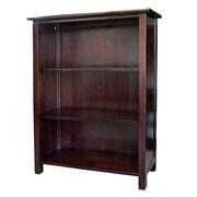 DonnieAnn Company Austin Bookcase with 3 Shelves in Dark Birch