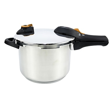 IMUSA 6.2-Quart Stainless Steel Pressure Cooker