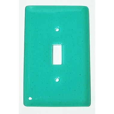 Hot Knobs Solid 1 Gang Switch Wall Plate; Light Aqua Blue