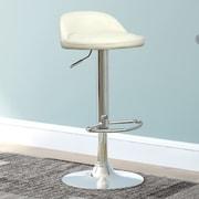 CorLiving Adjustable Height Swivel Bar Stool (Set of 2); White