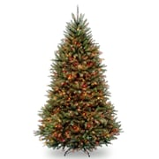 Innsbruk Pine 6.5' Hinged Green Artificial Christmas Tree w/ 650 Multicolored Lights