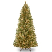 Wispy Willow 9' Green Artificial Christmas Tree w/ 900 Clear Incandescent Lights w/ Stand