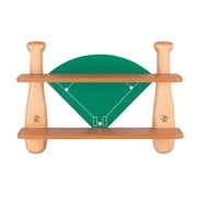 Lite Source 21'' H Baseball Field Shelf in Natural Wood