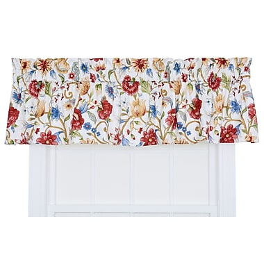 Ellis Curtain Cornwall 80'' Jacobean Floral Tailored Valance