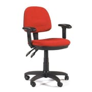 Martin Universal Design Feng Shui Mid-Back Office Chair with Arms; Red