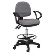 Martin Universal Design Height Adjustable Drafting Seating with Footring; Gray