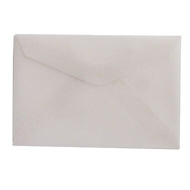 JAM Paper® 3drug Mini Small Envelopes, 2 5/16 x 3.63, Strathmore Bright White Wove, 100/Pack (900967818A)