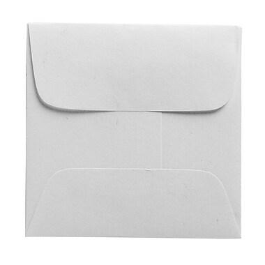 JAM PaperMD – Enveloppes carrées miniatures, blanc, 2,37 x 2,37 po, 100/paquet