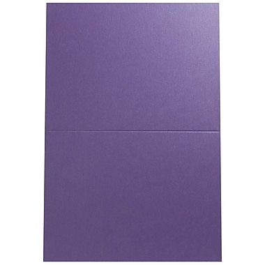 JAM Paper® Blank Foldover Cards, A6 size, 4 5/8 x 6 1/4, Curious Metallic Purple Haze, 25/pack (06937067B)