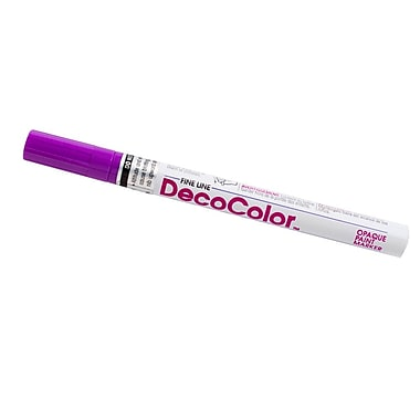 JAM Paper® Fine Point Opaque Paint Marker, Hot Purple, Sold Individually (7665896)