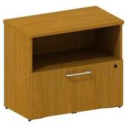 Bush Business 300 Series 30W Cabinet with Lateral File, Modern Cherry, Installed