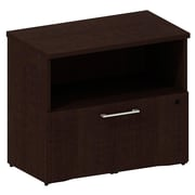 Bush Business 300 Series 30W Cabinet with Lateral File, Mocha Cherry, Installed