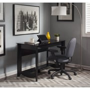 Bush Furniture Aero Writing Desk and 2-Door Medium Storage, Classic Black