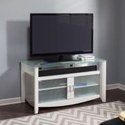 Bush Furniture Aero 46-inch TV Stand and 2-Door Tall Library Storage, Pure White