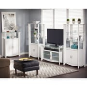 Bush Industries Aero Collection 46 TV Stand with 2-Door Tall Library Storage and 2-Door Medium
