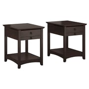Bush Furniture Buena Vista Set of (2) Laptop End Tables, Madison Cherry