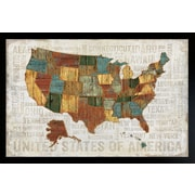 Diamond Decor United States of America Framed Poster