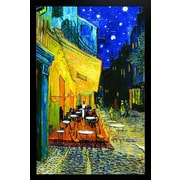 Diamond Decor Van Gogh Cafe' at Night Framed Poster